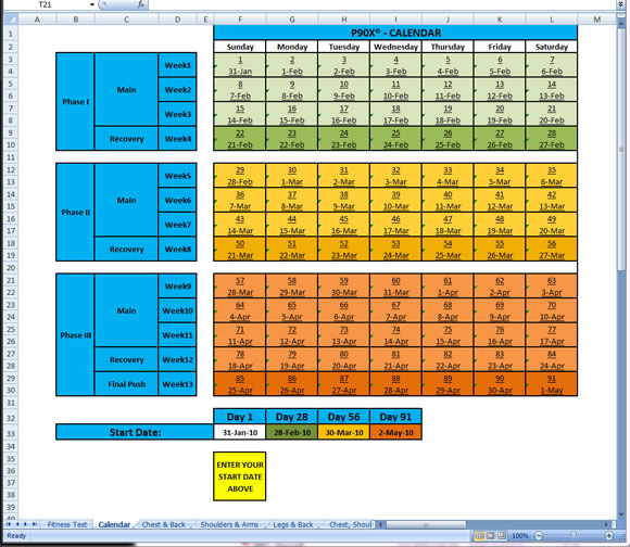 Worksheet P90x Worksheets Excel p90x schedule
